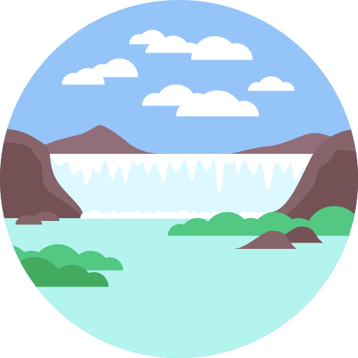 Waterfall, Nature, Landscape Icon
