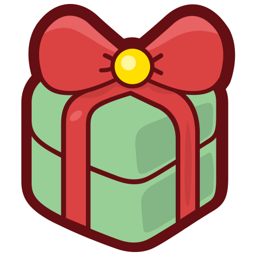 Christmas, Gift, Fill Icon