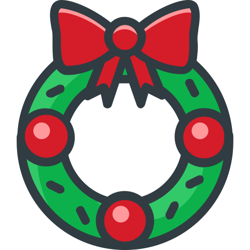 Wreath, Fill, Multicolor Icon