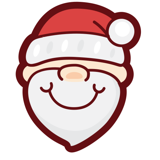 Santa Claus, Fill, Flat Icon