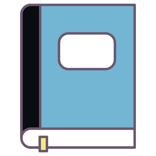 Book Dairy Note Write Tag Mark Important Office Log Stationery 32589f343e052f85, Flat, Multicolor Icon