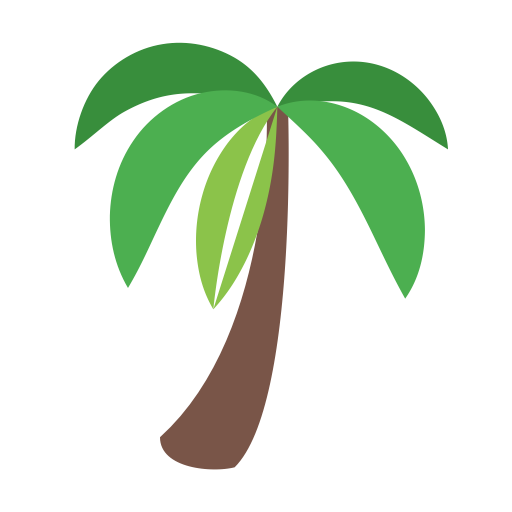 Palm Tree, Fill, Multicolor Icon