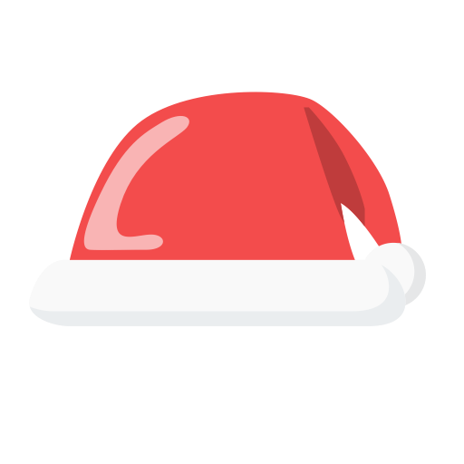 Christmas Hat, Hat, Newyears Icon