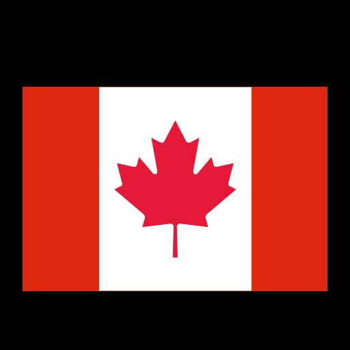 Canada, Flat, Monochrome Icon