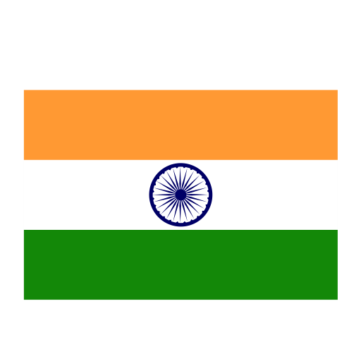 India, Flat, Monochrome Icon