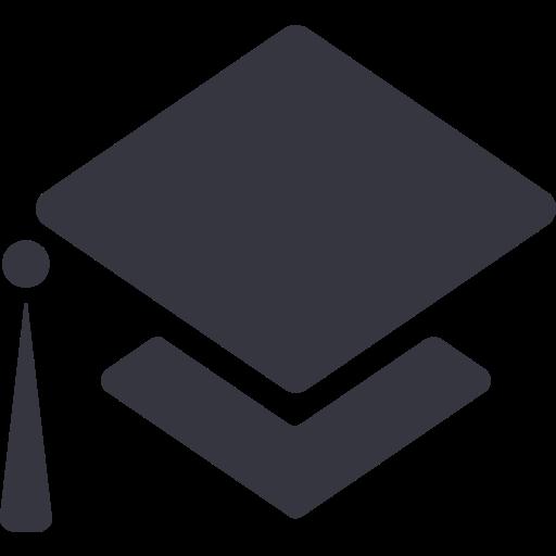 Education, Fill, Monochrome Icon