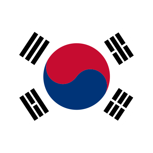 The Republic Of Korea, Flat, National Flag Icon