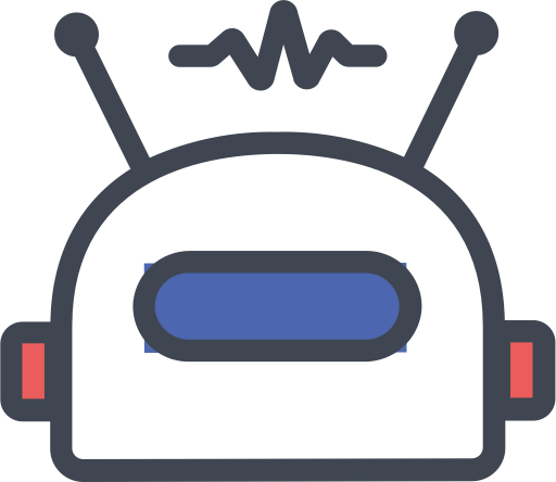 Listening Robot, Fill, Linear Icon