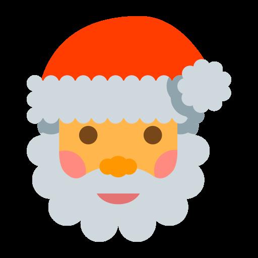 Santa, Fill, Multicolor Icon