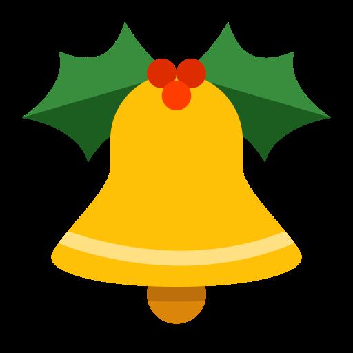 Jingle Bell, Fill, Multicolor Icon