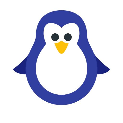 Christmas Penguin, Fill, Multicolor Icon