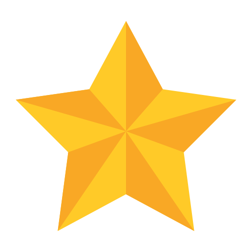 Christmas Star, Fill, Multicolor Icon