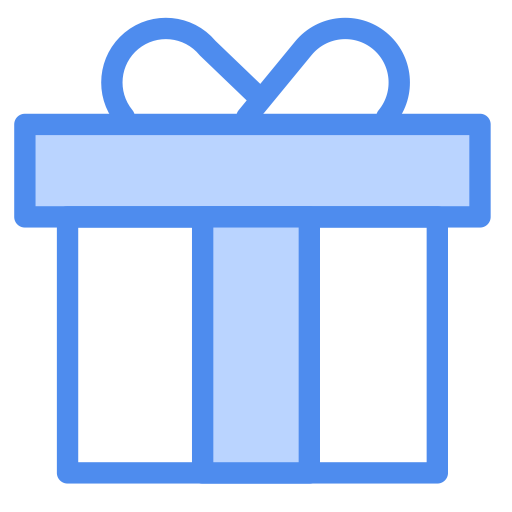 Gift-box-linear-multicolor Icon