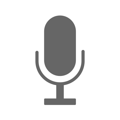 Microphone, Fill, Monochrome Icon