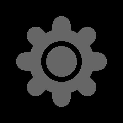 Gear, Fill, Monochrome Icon
