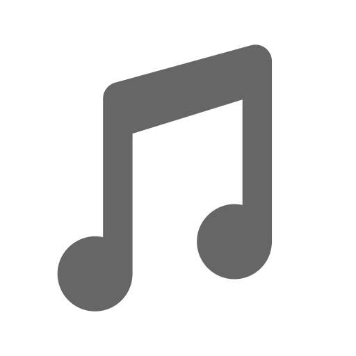 Music, Fill, Monochrome Icon