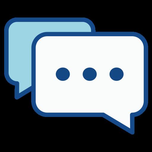 Chat, Fill, Multicolor Icon