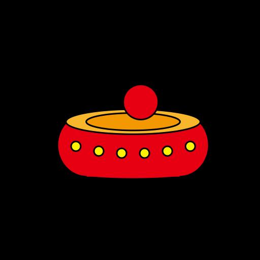 Drum, Instrument, Sticks Icon