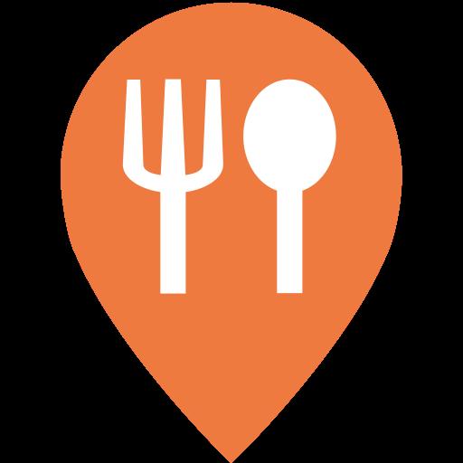 Restaurant, Fill, Multicolor Icon