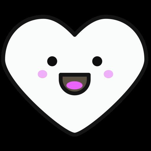 Heart, Flat, Multicolor Icon