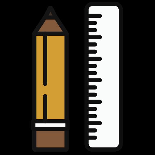 Pencil, Multicolor, Lovely Icon