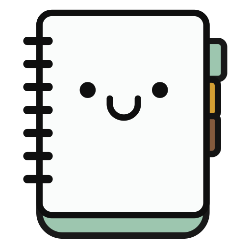 Notebook, Multicolor, Lovely Icon