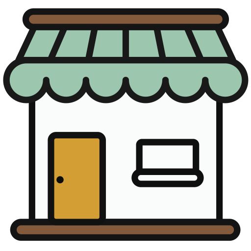 Shop, Multicolor, Lovely Icon