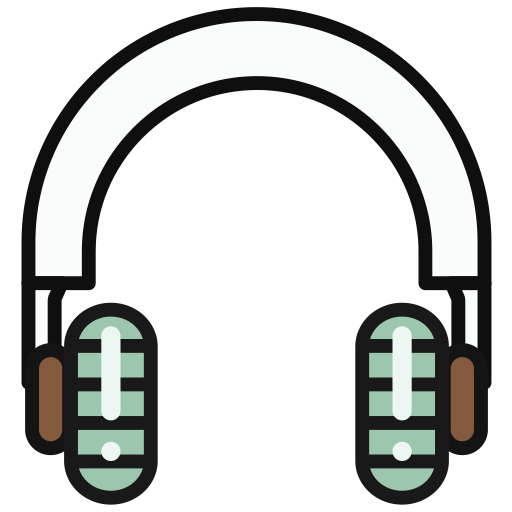 Headphone, Multicolor, Lovely Icon
