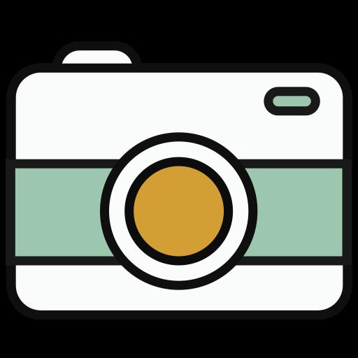 Camera, Flat, Round Icon