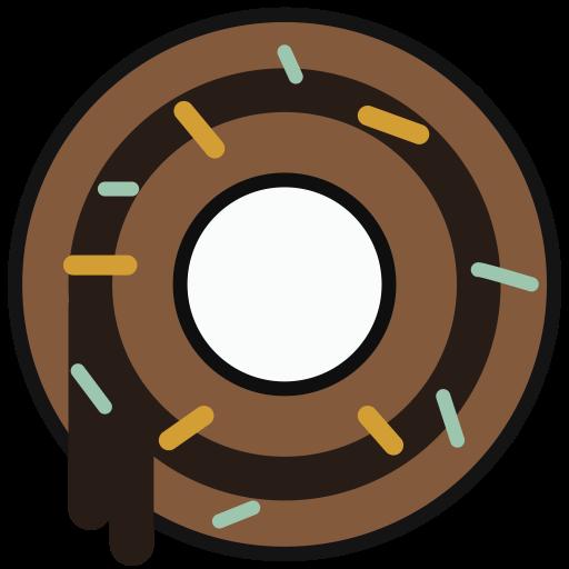 Doughnut, Multicolor, Lovely Icon