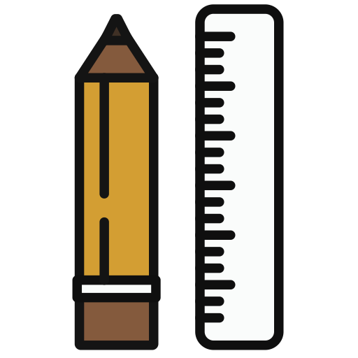 Pencil, Multicolor, Lovely Icon