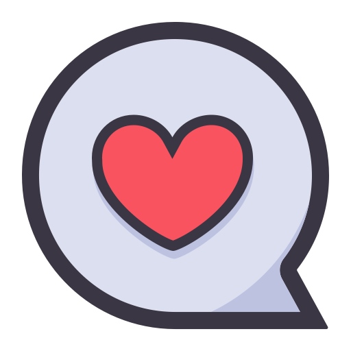 Dialogue, Flat, Lovely Icon