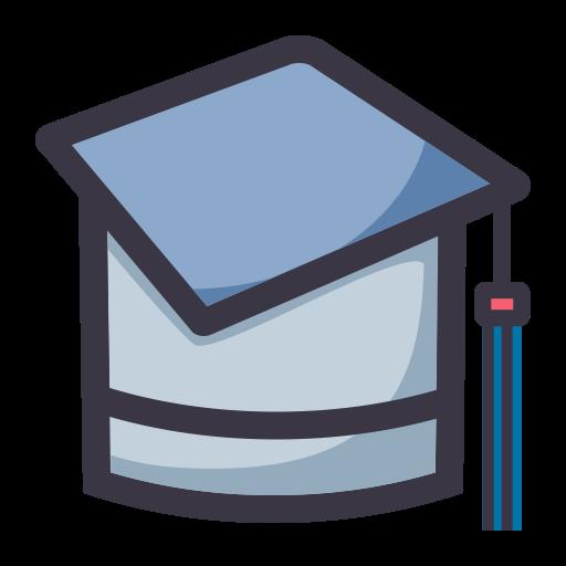 Academic Degree, Flat, Lovely Icon