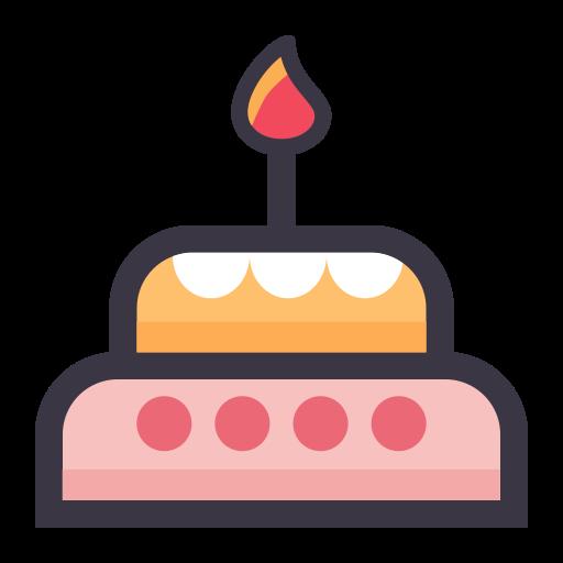 Birthday, Flat, Lovely Icon