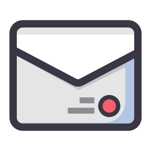 Mail, Flat, Lovely Icon