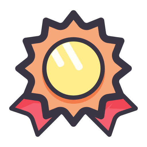 Medal, Flat, Lovely Icon