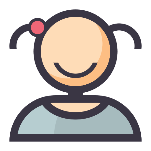 User  Female , Flat, Lovely Icon