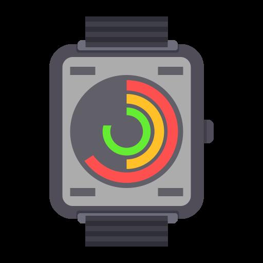 Wrist Watch, Flat, Lovely Icon