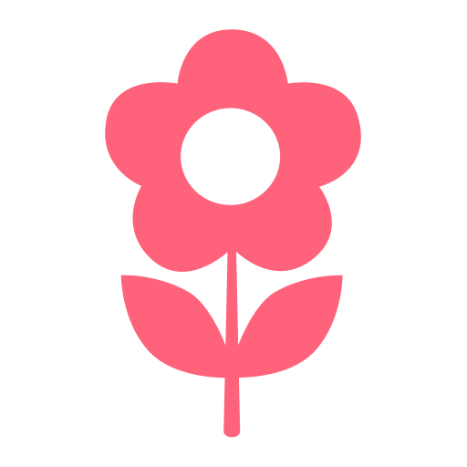 Flower, Green, Home Icon