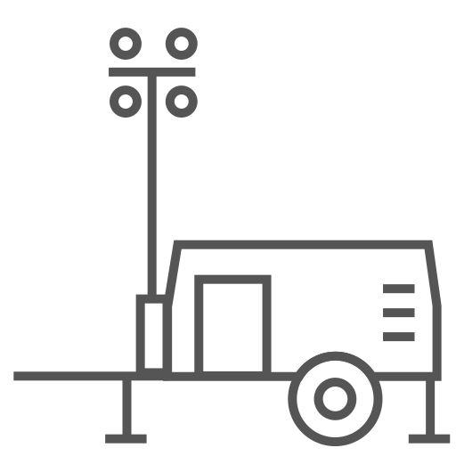 Mobile Light Tower, Tower Icon With PNG And Vector Format