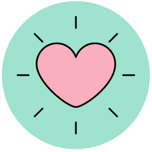 Heart 5, Lovely, Multicolor Icon