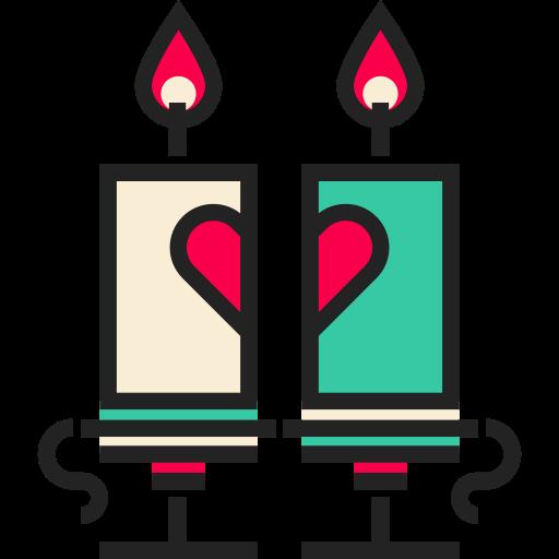 Valentines Day, Simple, Multicolor Icon