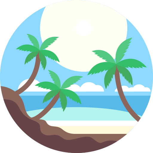 Beach, Coconut, Island Icon