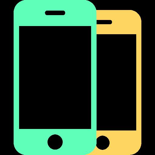 Mobile Phone, Multicolor, Flat Icon