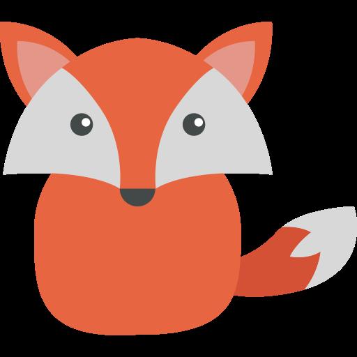 Fox, Flat, Hand Icon