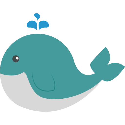 Whale, Flat, Hand Icon