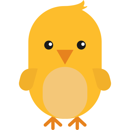 Chick, Flat, Hand Icon