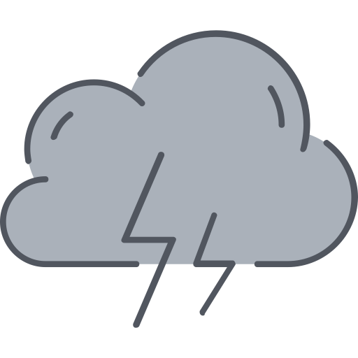 Storm  1, Linear, Flat Icon