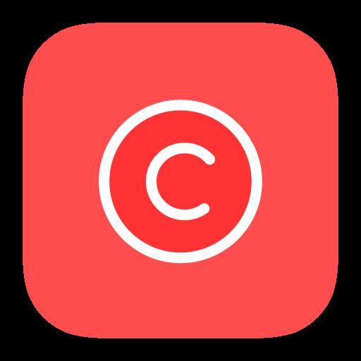 Copyright, Multicolor, Flat Icon