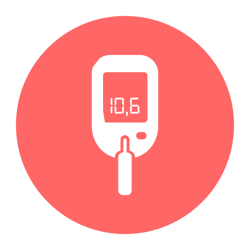 blood glucose meter blood meter bp meter icon with png and vector